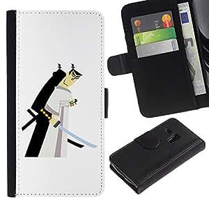 iBinBang / Flip Funda de Cuero Case Cover - Blanco japonés - Samsung Galaxy S3 MINI NOT REGULAR! I8190 I8190N
