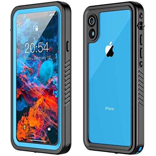 Potalux iPhone XR Waterproof Case, iPhone XR Case Built in Screen Protector 360