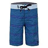 Hurley Boys' Big Classic Board Shorts, Blue Shoreline, 14