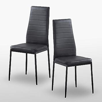 2 chaises de salle à manger chez maison contemporaine