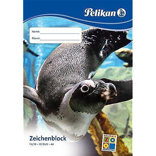 Pelikan 2056115 - Bloc À Dessin - C4/20 Din A4 Avec 20 Feuilles - Modèle aléatoire