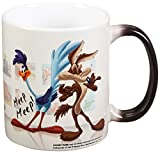 Morphing Mugs Looney Tunes (Wile E Coyote and Road Runner) Ceramic Mug, Black