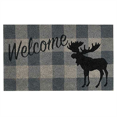 (Park Designs Welcome Moose Bristle Door Mat)