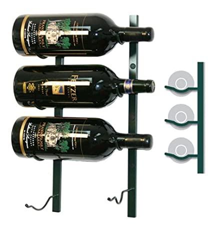Wine Master Cellars WS11-P 1ft. Wall Series 3 Bottle Wine Rack44;Platinum  sc 1 st  Amazon.com & Amazon.com: Wine Master Cellars WS11-P 1ft. Wall Series 3 Bottle ...