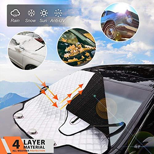 MagiqueW Car Windshield Snow Cover Car Windshield Snow Ice Cover, Car Sunshades for Windshield with...