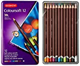 Derwent Colorsoft Pencils, 4mm Core, Metal Tin, 12 Count (0701026)