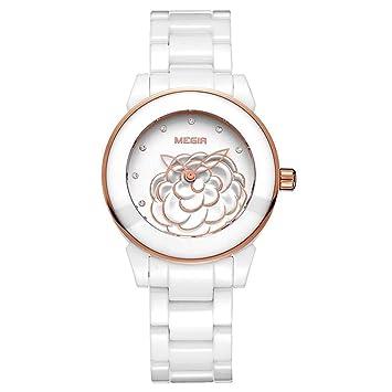 North King Indicación de la Fecha de Relojes Cuarzo Reloj cerámica Moda Casual Relojes Bonitos para Regalo de cumpleaños de Adultos: Amazon.es: Jardín