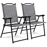 Best Choice Products Set of 2 Folding Patio Chairs