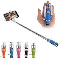 Bestonova Mini Selfie Sticks with Aux Cable 55 cm (Multicolor)