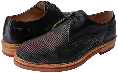 Black Para albilla Mujer De Geo Fantasy Oxford Black Cordones geo Negro Zapatos Neosens S924 Floral q6RwxTv