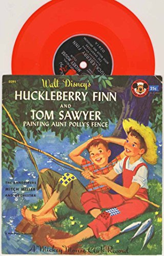 Walt Disney's Huckleberry Finn & Tom Sawyer - Painting Aunt Polly's Fence 1955 Official Mickey Mouse Club Record (Annette Mouseketeer photo on the sleeve)