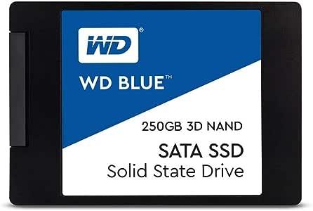 "Western Digital WDS250G2B0A 2.5"" 250GB SSD Blue SATA3 6Gbs, 3D NAND, Read 550MB/s, Write 525MB/s, 176K IOPS, 5 Years Warranty"