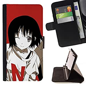 Momo Phone Case / Flip Funda de Cuero Case Cover - Historieta linda chica japonesa;;;;;;;; - LG G4c Curve H522Y (G4 MINI), NOT FOR LG G4
