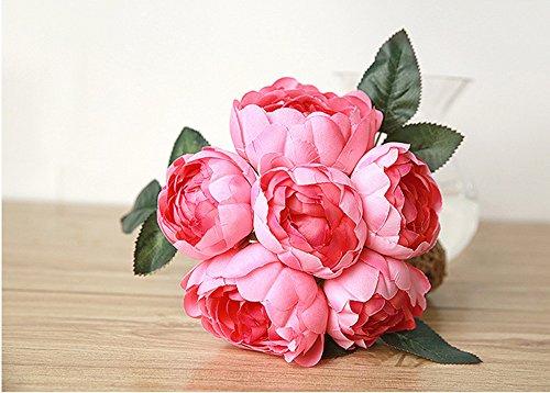 Quaanti-6-Heads-Artificial-Fake-Flowers-Plants-Silk-Hydrangea-Peony-Flower-Arrangements-Wedding-Bouquets-Decorations-Plastic-Floral-Table-Centerpieces-for-Home-Kitchen-Garden-Party-Dcor-Hot-Pink