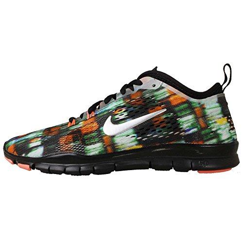 195d9262a724e Nike Women s Free 5.0 Tr Fit 4 Prt Black Mtllc Silver Brght Mng Running  Shoe 9.5 Women US - Buy Online in UAE.