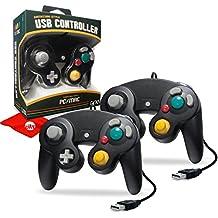 Hyperkin CirKa Premium GameCube-Style USB Controller for Mac/Windows PC, 6' Cable Length, Black 2-Pack (M07148-BK)