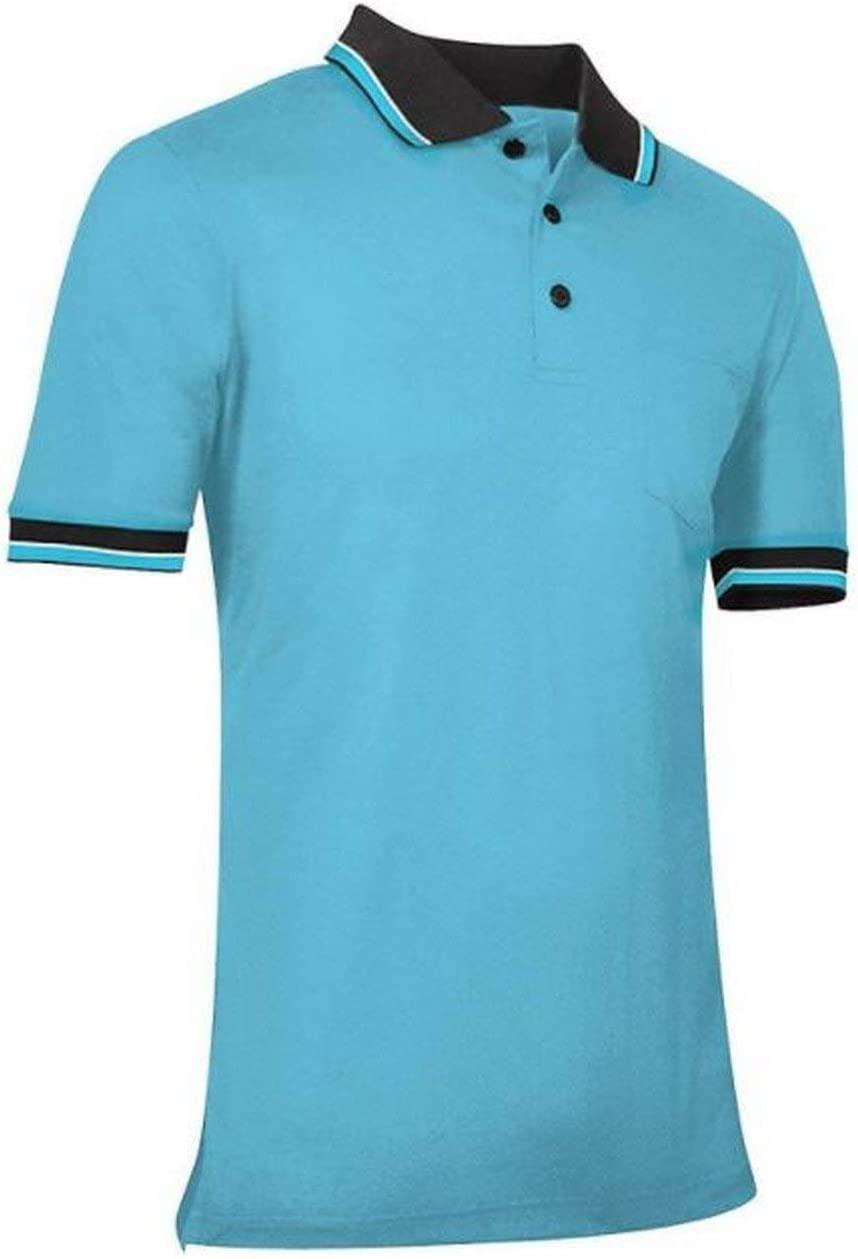 CHAMPRO Umpire Polo Shirt; Adult Light Blue