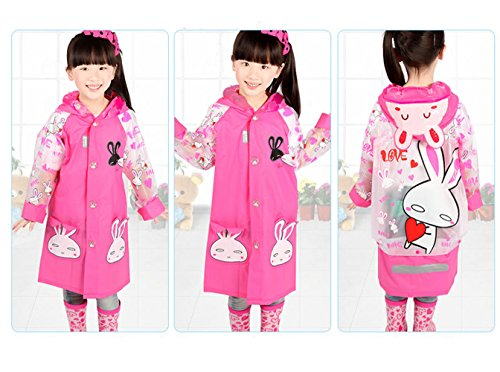 Sweet Dots Raincoat for Girls Fashionable Raincape with Handbag Yellow