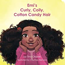 Emi's Curly Coily, Cotton Candy Hair
