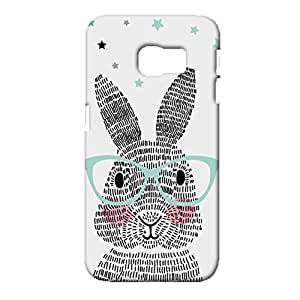 Samsung Galaxy S6 Edge Protective Case, Painted Rabbit Pattern 3D Premium Quality Hard Back Case for Samsung Galaxy S6 Edge