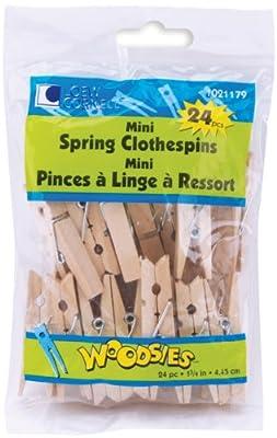 "Mini Spring Clothespins 1 3/4""-24/Pkg"