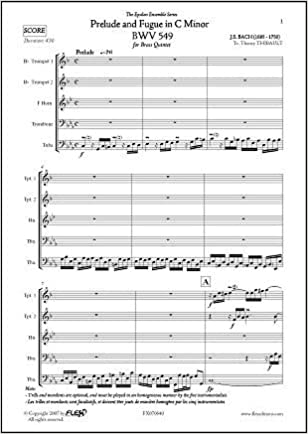 PARTITURA CLASICA - Prelude and Fugue in C Minor BWV 549 - J.S. ...