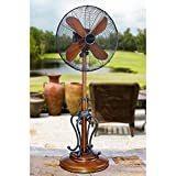 "50"" Extravagant ""Byzantium"" Adjustable Oscillating Outdoor Standing Fan"