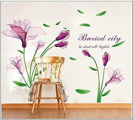 Butterfly Vine Flower Mural Art Wall Stickers Vinyl Decal Room Pretty Decor DIY