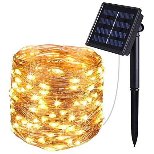 J YJ Solar String Lights, 40FT LED Fairy