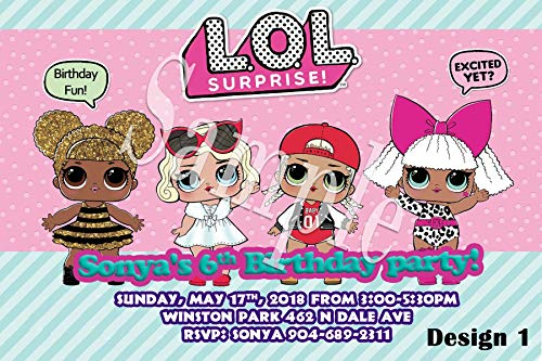 LOL Surprise Dolls Personalized Birthday Invitations More Designs Inside! by MillCreations