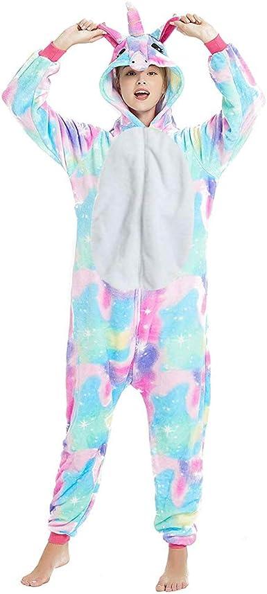 Pijama de unicornio para adulto, mujer y hombre, dibujos animados, disfraz de cosplay con capucha, talla 38 – 22