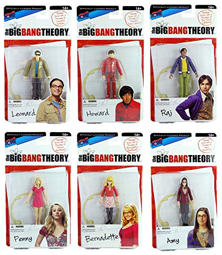 The Big Bang Theory Set of 6 Action Figures Series 1 - Leonard, Howard, Raj, Penny, Bernadette & Amy (Best Of Big Bang Theory)