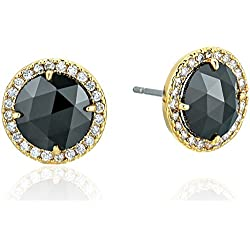 kate spade new york Bright Ideas Pave Halo Jet Stud Earrings