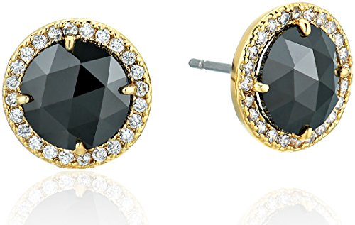 kate spade new york Bright Ideas Pave Halo Jet Stud Earrings by Kate Spade New York (Image #1)