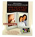 Mark Feldstein & Associates Dual Recording Photo Frame Memories You Can Hear!, RE9938 (Metallic Silver)
