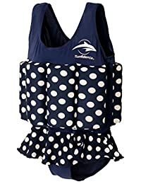 Konfidence Girls Floatsuit Polka Dot 4-5 Years Navy
