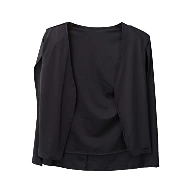 Amazon.com: Moda Capa Blazer Mujer Abrigo Blanco Negro ...