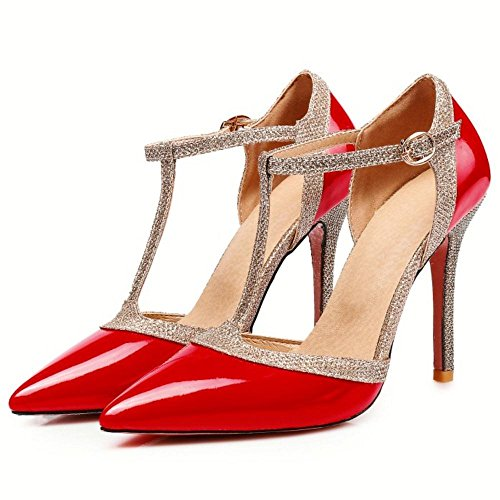 Aiguille Salomes Taoffen Chaussures Red Femmes Talons Escarpins TRRxq1ng