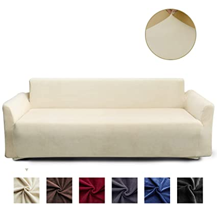 Groovy Miulee Stretch Sofa Cover Velvet Couch Cover Fitted Sofa Slipcover Furniture Protector Washable For Pets And Kids Sofa Beige Download Free Architecture Designs Pushbritishbridgeorg
