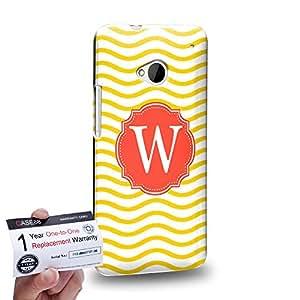 Case88 [HTC One M7] 3D impresa Carcasa/Funda dura para & Tarjeta de garantía - Art Typography Fashion Alphabet W Style