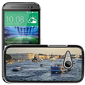 Hot Style Cell Phone PC Hard Case Cover // M00171186 St Petersburg Russia Neva River Water // HTC One Mini 2 / M8 MINI / (Not Fits M8)