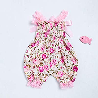 NUWFOR Toddler Baby Boys Girls Floral Romper Bodysuit Jumpsuit+Headband Set Outfit White