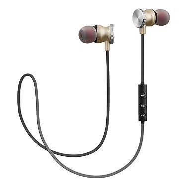 woozik N900 magnético Sport – Auriculares inalámbricos con Bluetooth 4.2, construido en micrófono y sonido