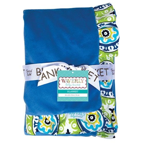 Trend Lab Receiving Blanket - Ruffle Trimmed Waverly Solar Flair by Trend Lab