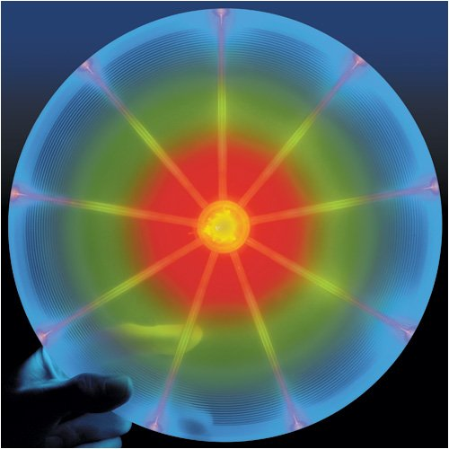 Nite Ize Flashflight Jr. Light Up Flying Disc for Kids, 120g Smaller Disc for Children, Color-Changing Disc-O LED Disc for Nighttime Play