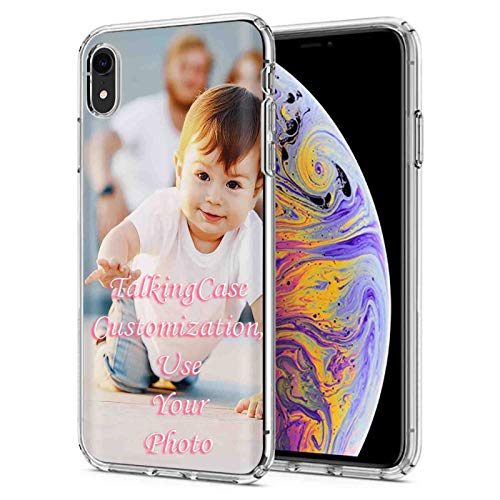 TalkingCase Customized Phone Cover for Apple iPhone XR, Personalized Phone Case, Clear Premium Thin Gel Phone Cover, Ultra Flexible Slim TPU, See Your Baby Photo On Your Phone Cover, Designed in USA