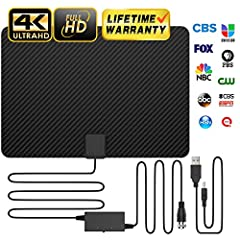 You can get all local channels in crystal clear quality! Watch over 500, 000 movies and TV episodes come to life in vibrant colors and detailed contrast through our indoor HD antenna connected directly to your TV.