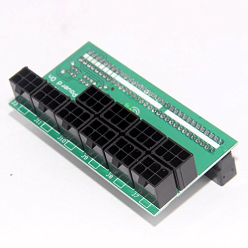 Gotd DPS-1200FB / QB 6 Pin A Power Supply Breakout Board Adapter For Ethereum Mining (Green) ()