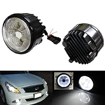 IJDMTOY 18W High Power 6 LED Fog Light Lamps Assy With LED Halo Rings For