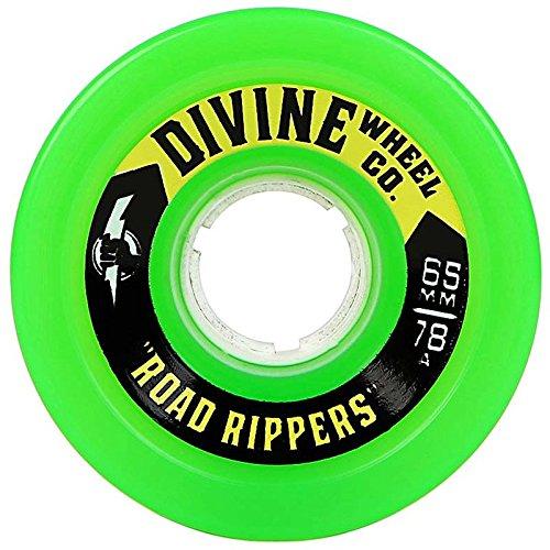 フリース次売るDivine Road Rippers ロングボードスケートボードホイール - 65mm 78a グリーン
